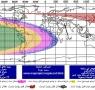 نقشه استهلال و وضعیت هلال در شنبه شب 96/3/3  طبق مبنای پرفسور یالوپ و مهندس محمد عوده