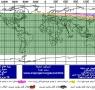 نقشه استهلال و وضعیت هلال در یکشنبه شب 96/3/4  طبق مبنای پرفسور یالوپ و مهندس محمد عوده